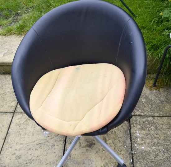 Great Transformation Of An Ikea Skruvsta Chair Using Old