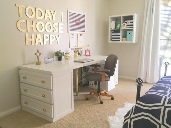 My Glam Malm Desk Ikea Hackers Bloglovin