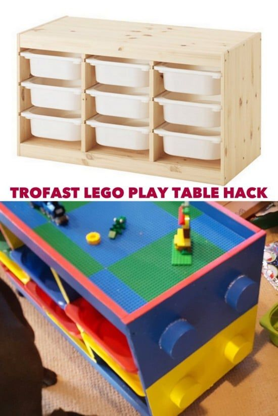 trofast to lego table in one weekend ikea hackers bloglovin. Black Bedroom Furniture Sets. Home Design Ideas