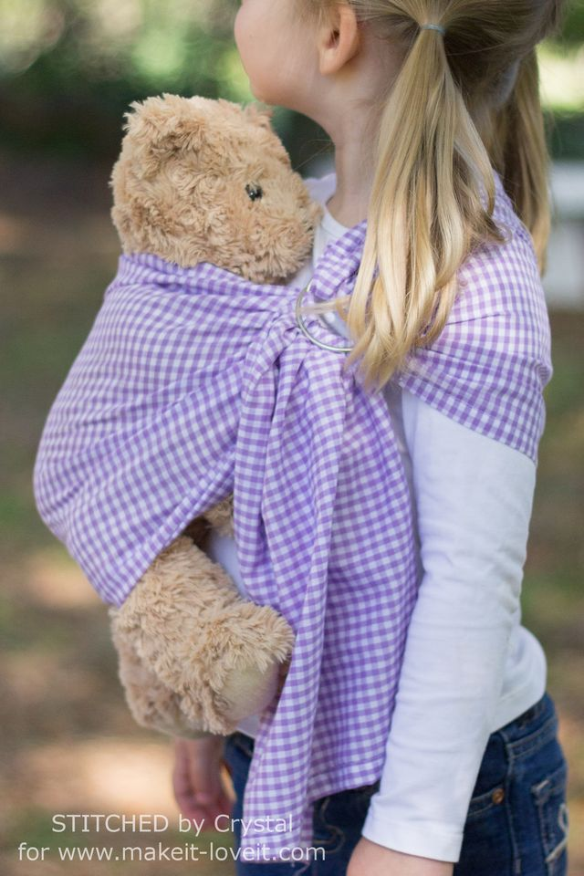 Doll Ring Sling Carrier Tutorial Make It And Love It