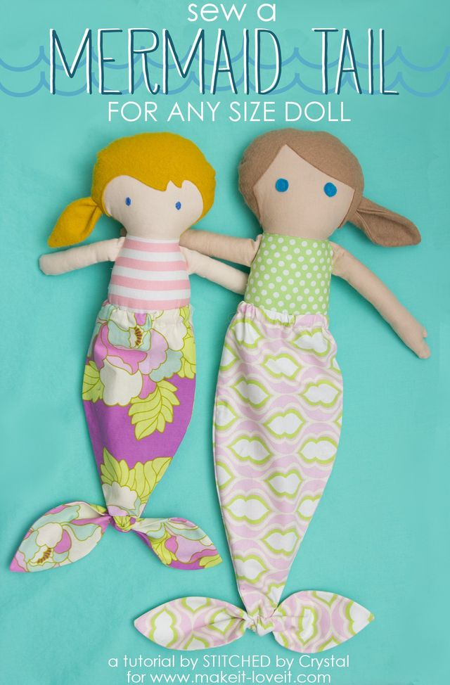 Sew A Mermaid Tail For Any Size Doll Make It And Love It Bloglovin