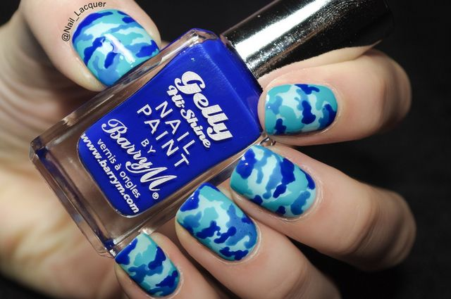 I have prepared camouflage nail art tutorial for you today. However, I  thought I'll try something different than the usual greenish tones and used  blues ... - Camouflage Nail Art Tutorial Nail Lacquer UK Bloglovin'