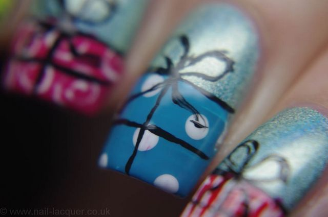 Christmas presents nail art nail lacquer uk bloglovin the firs challenge was to design christmas presents nail art at first i thought it would be an easy one but to be honest i kinda struggled with it prinsesfo Gallery