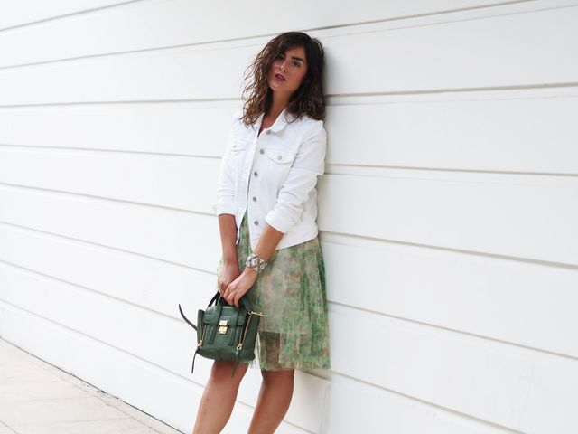 aaed3ae953bca GAP DENIM JACKET – FRENCH CONNECTION DRESS – 3.1 PHILLIP LIM BAG – TORY  BURCH SHOES