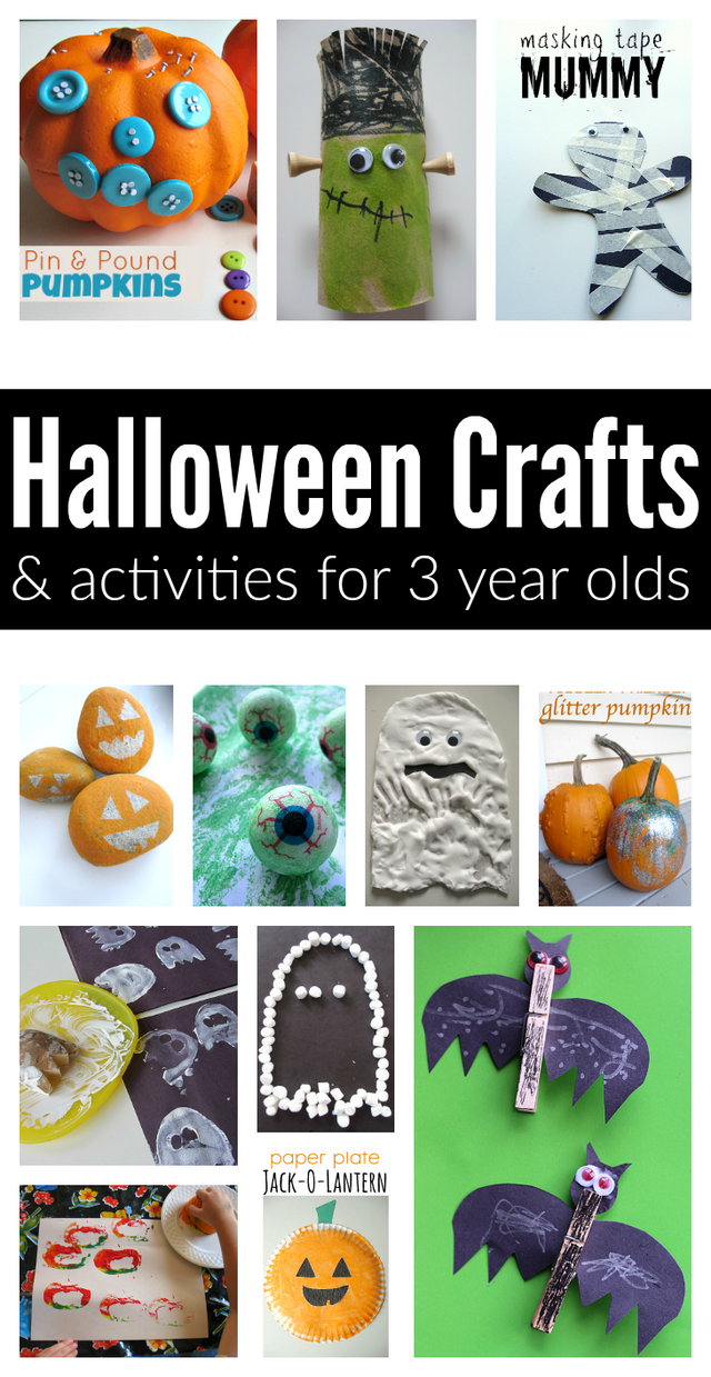 Easy halloween crafts and activities for 3 year olds no for Crafts for 8 10 year olds