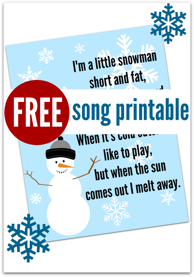 Snowman song free printable no time for flash cards bloglovin i tend to forget song lyrics for circle time and end up practicing them the whole way to and from school i love singing with my students but i would much stopboris Image collections