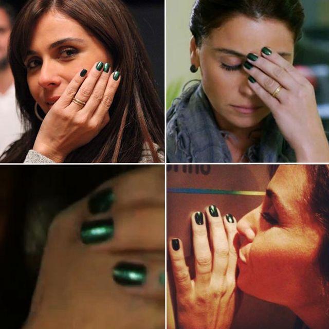 70240dcc9 O esmalte verde da Giovanna Antonelli na novela Em Família