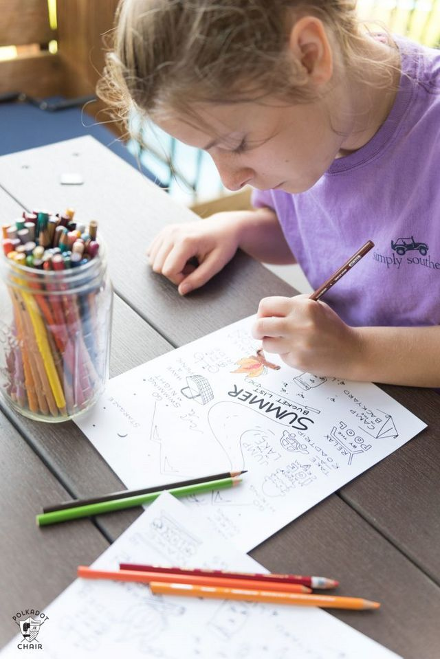 I Had My Daughter Brainstorm A Fun Bucket List Which We Sent To Brynn She Then Worked Her Magic Design This Coloring Page