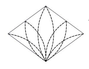 Machine Quilting Diamond Blocks