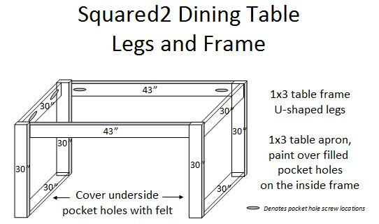 I Attached The 30 1x3s Using Pocket Hole Screws That Would Show On Inside Of Table And Under Legs