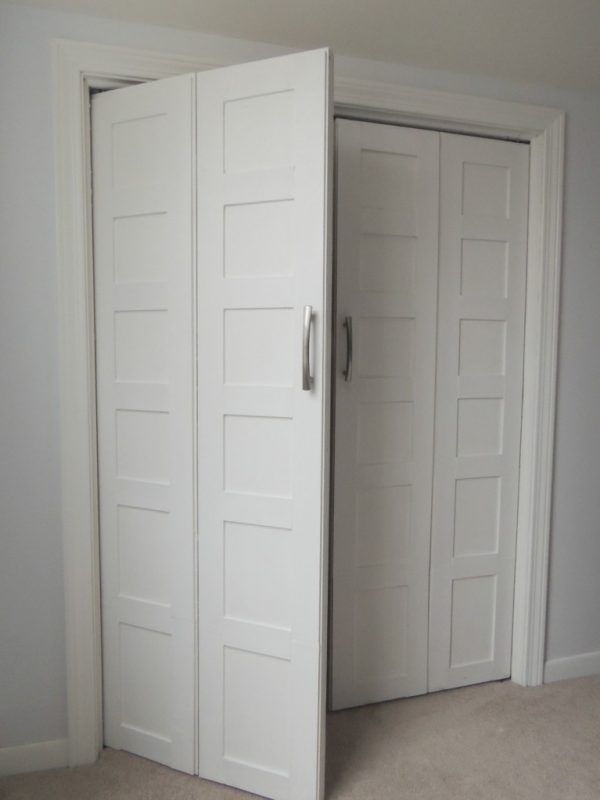 Bi Fold To Paneled French Door Closet Makeover Remodelaholic