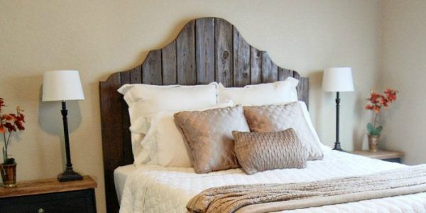 59 Incredibly Simple Rustic Décor Ideas That Can Make Your: Easy No-Sew Headboard Slipcover Tutorial