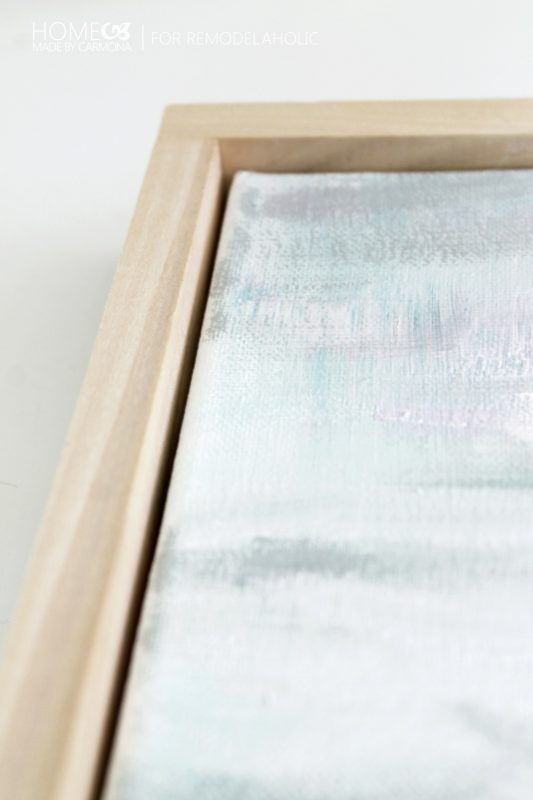 Tutorial: Chic Floating Frame for a Canvas | Remodelaholic | Bloglovin\'