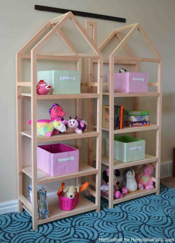DIY House Frame Bookshelf Plans | Remodelaholic | Bloglovin\'