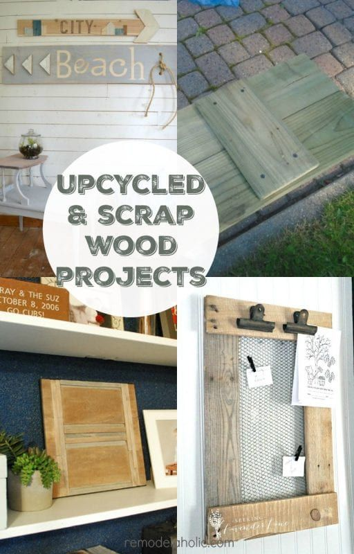 4 Reclaimed and Scrap Wood Projects (Friday Features + Link Party ...