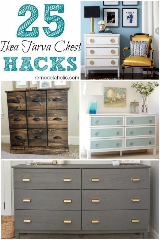 25 ikea tarva chest hacks remodelaholic bloglovin. Black Bedroom Furniture Sets. Home Design Ideas