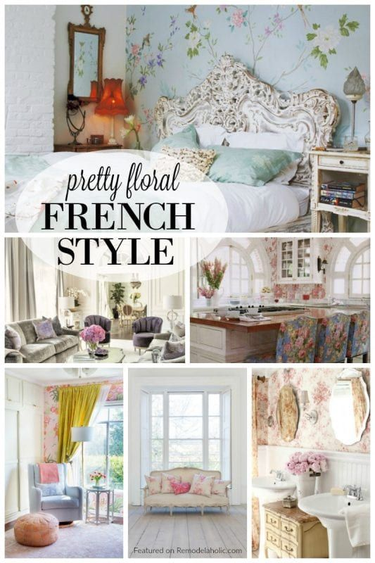 Weve Found Some Of Our Favorite French Floral Inspired Spaces To Share With You These Designs Have A Whole Lot Pretty Fresh Blooms Tossed In