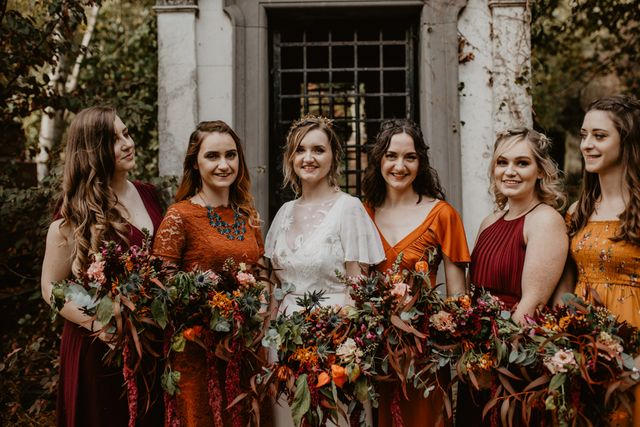 1abe4c68f7 I can't think of two themes richer in colours or flavours than those which  inspire this wedding: autumn and Mexico. The striking shades of Sophie &  Steve's ...
