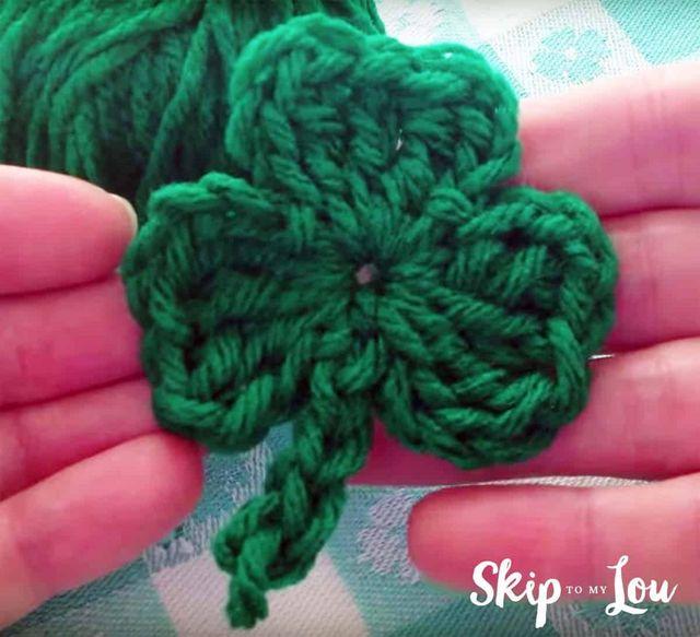 Free Crochet Shamrock Pattern With A Video Skip To My Lou Bloglovin