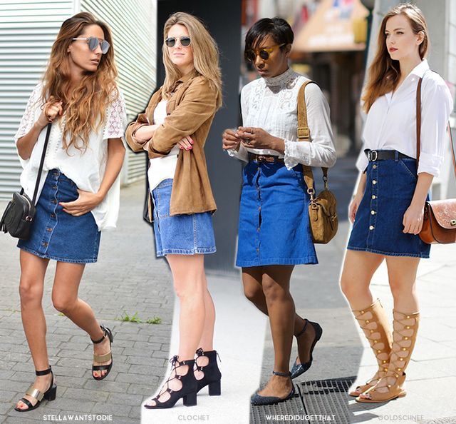 New Ways to Style Your Denim Skirt