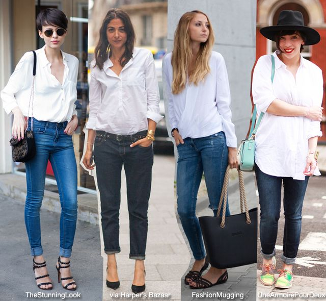 Basic: White Shirt/Top   Jeans | Blue is in Fashion this Year