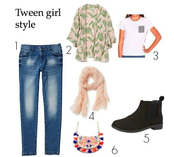 1.Target skinny jeans  25   2. Cotton On Hetty Kimono  29   3. Eve s Sister  Tee  39   4. CR Nude scarf  39   5. Target ankle boots  15   Seed purse  24 1a5b27092f