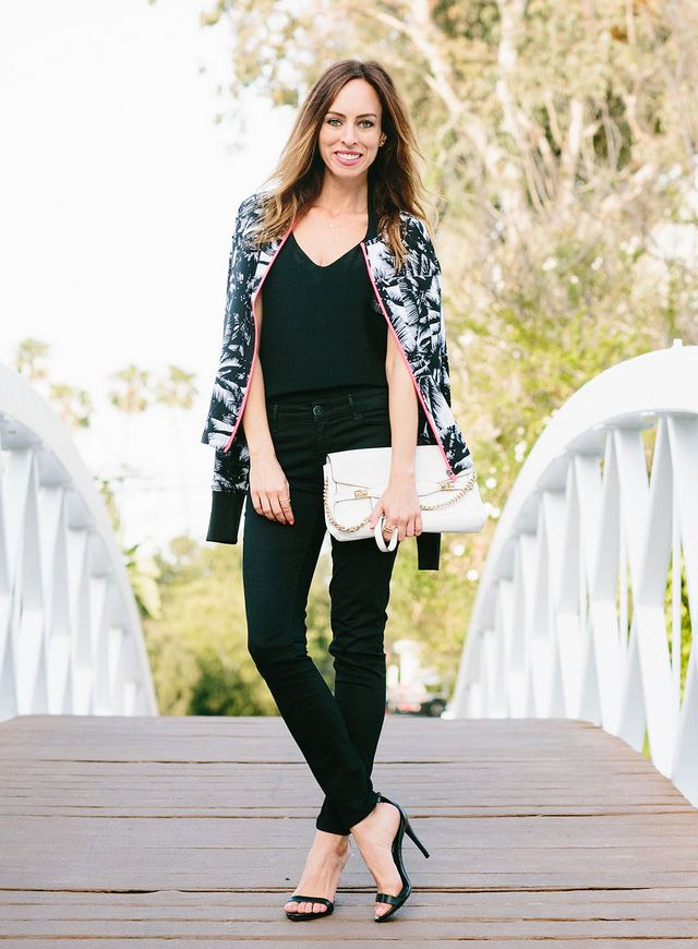 And the bomber jacket is a great way to do the sporty trend from your  workouts to a night out. I love the palm tree print of this lightweight  Fabletics ... 5048c077b