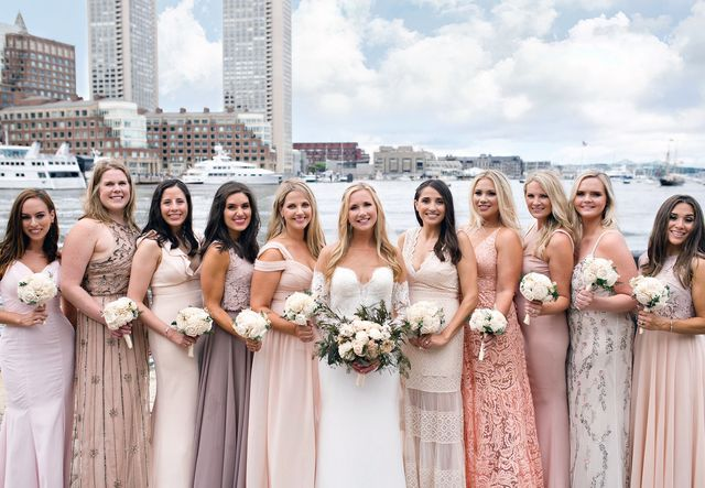 a33d02e74c6 ... dresses is hands-down letting the bridesmaids wear different dresses in  the same color palette. When I was maid-of-honor for my best friend s  wedding in ...