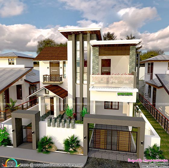 Day night view and blueprint of modern house kerala home design see blueprints and facilities read more please follow kerala home design malvernweather Images