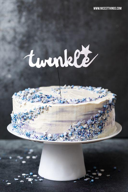 Galaxie Torte Galaxy Cake Mit Mohn Weisser Schokolade Pflaume