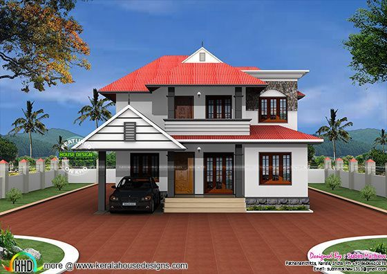 Typical Kerala Home In 2500 Sq Ft