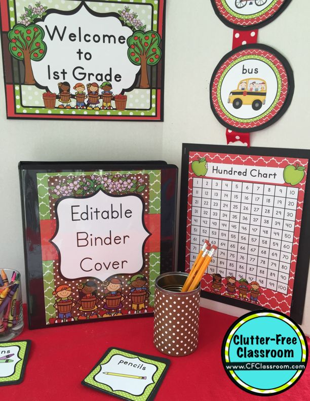Classroom Decoration Free Download ~ Apple themed classroom ideas printable