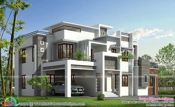 Box model contemporary house