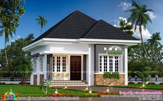 Cute Little Small House Plan 550 Square Feet