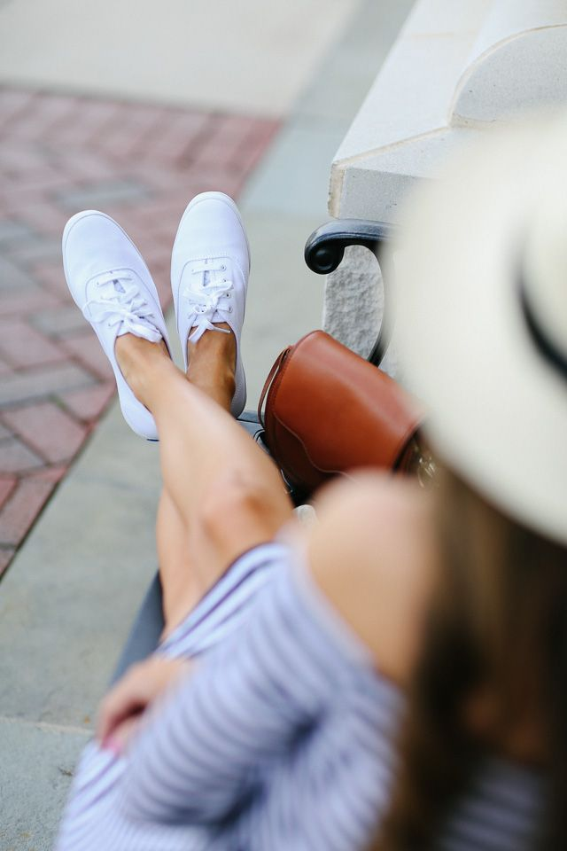 Dsw White Keds Also Love These Blue Ones See The Entire Collection At Here Striped Dress Similar Hat