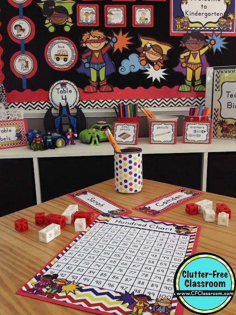 Superhero Classroom Decor Printables ~ Superheroes themed classroom ideas printable
