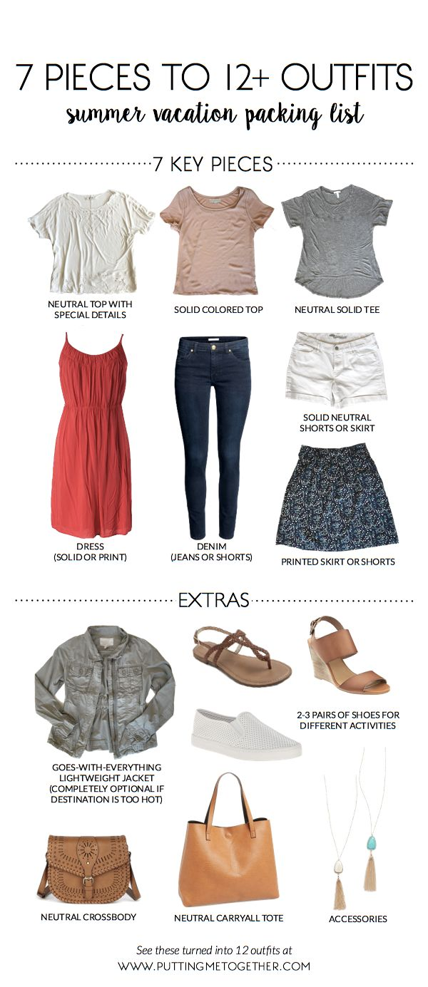 5739a0079 Summer Vacation Packing List: 7 Pieces to 12 Outfits + 40% Off ...