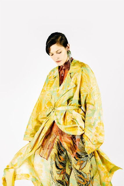 fe8ec6e427 It's currently all icy streets and blowing snow here, so I'm really  appreciating the sunny vibrant colours of this look by Dries van Noten, ...