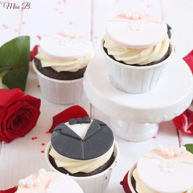 Braut und Bräutigam: Süße Hochzeits Cupcakes | Miss Blueberrymuffin ...