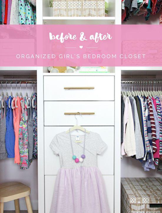 Before Amp After Organized Girl Bedroom Closet Iheart Organizing Bloglovin