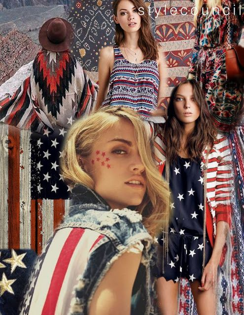 Americana Inspired Designs Are Always A Summer Favorite Mix It Up This Season By Blending Bold Stars And Stripes With Edgy Tribals Paisley