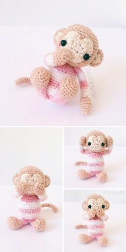 Amigurumi Monkey - pattern no longer available! - Pattern Center   500x250