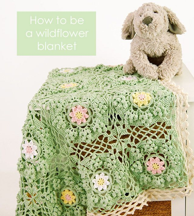 753e79e1ac6c9 How To Be a Wildflower Blanket Pattern | Dada's place | Bloglovin'