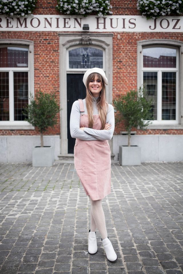 7d81cd8a60 Outfit: pink corduroy pinafore | The Styling Dutchman | Bloglovin'