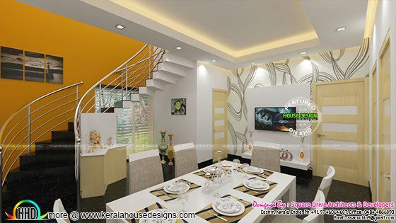 Dining Living And Master Bedroom Interior