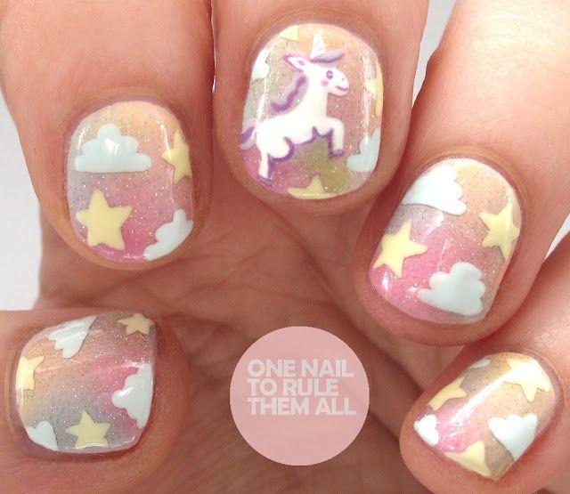 Unicorn Nail Art - Unicorn Nail Art One Nail To Rule Them All Bloglovin'