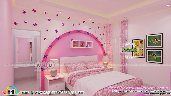 Kid Bedroom And Master Bedroom Interior Kerala Home Design