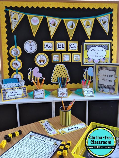 Classroom Decoration Free Download : Bees themed classroom ideas printable