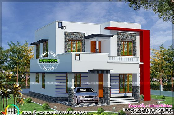 1690 Sq Ft Low Budget Modern Home