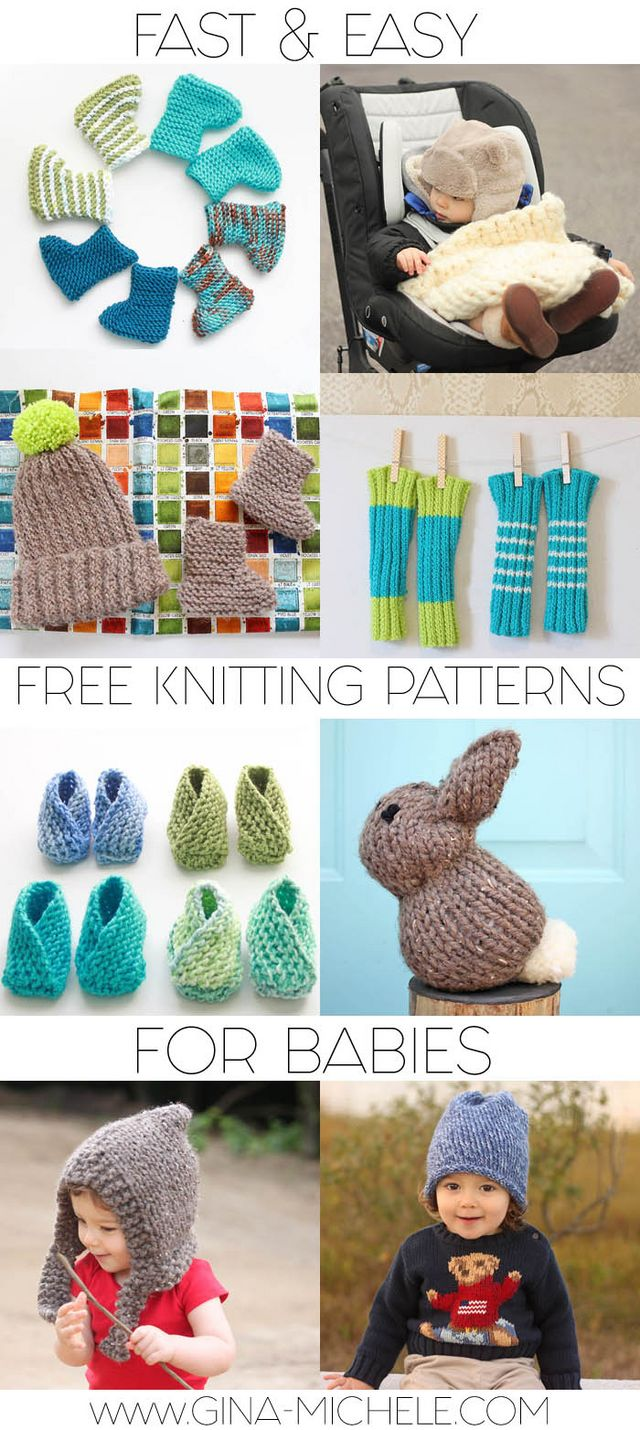 Fast & Easy Free Knitting Patterns for Babies | Gina Michele ...